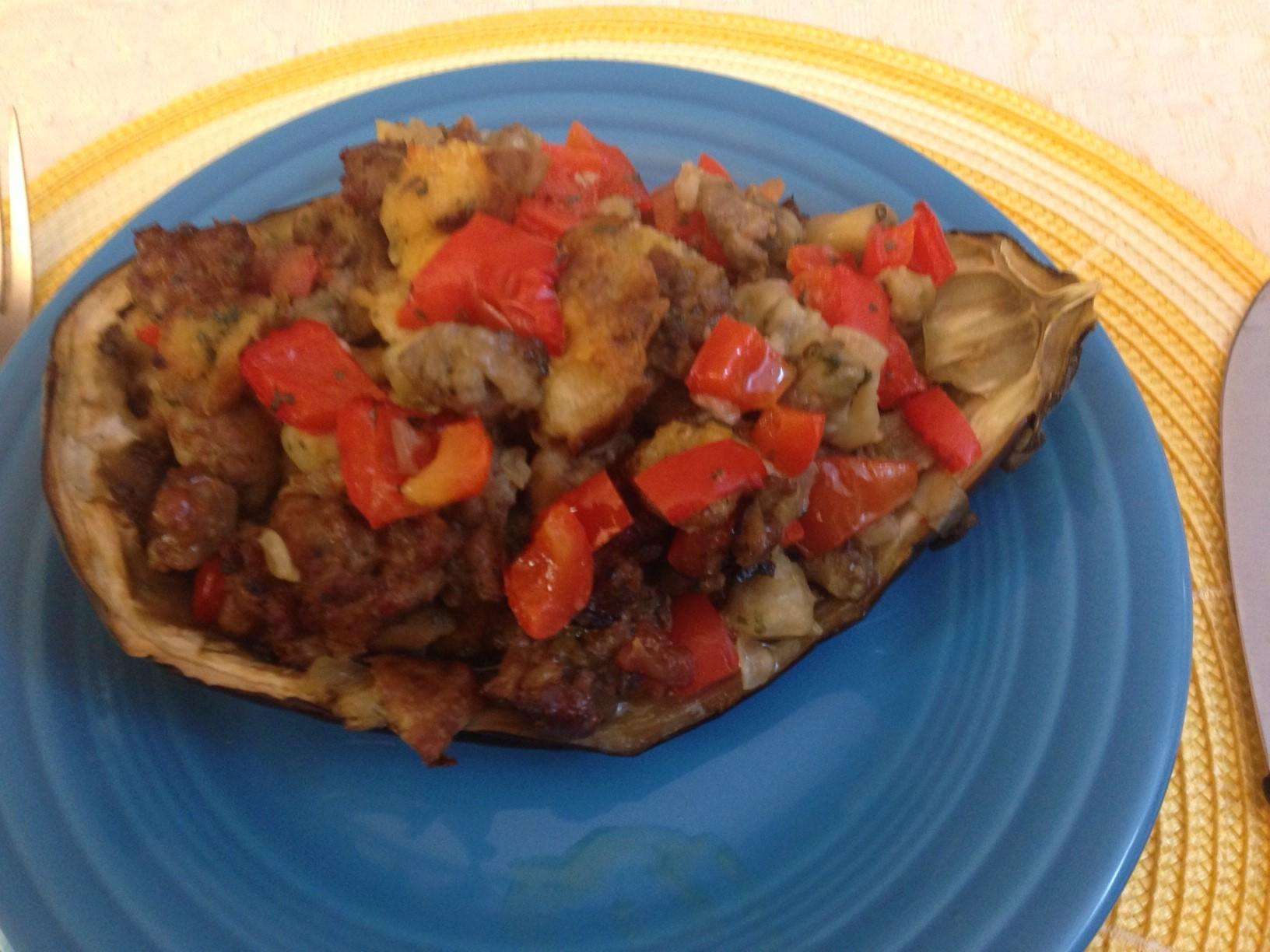 Lidia S Kitchen Stuffed Eggplant